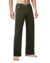 Lacoste Colors Collection Knit Lounge Pants Forest Night
