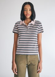 Vans Sandy Liang Polo Shirt In Lotus Size Extra Small