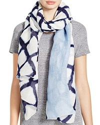 Aqua Graphic Pop Pareo Scarf Blue