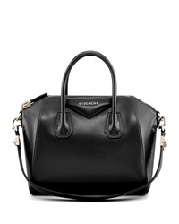 Givenchy Antigona Small Leather Satchel Bag Black
