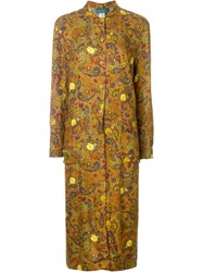 Kenzo Vintage Paisley Shirt Dress Multicolour