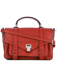 Proenza Schouler Ps1 Medium Satchel Women Calf Leather One Size Red