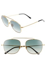 Spektre Women's Montana 56Mm Gradiant Sunglasses Matte Gold Gradient Green Matte Gold Gradient Green