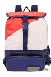 Adidas By Stella Mccartney Run Convertible Mesh Paneled Color Block Shell Backpack Multicolor