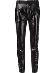 Bouchra Jarrar Cropped Tapered Trousers Black