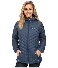 Mountain Hardwear Micro Ratio Hooded Down Jacket Zinc Phantom Purple Women's Jacket Blue
