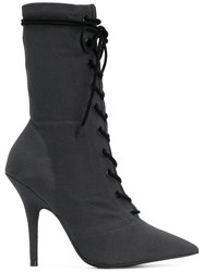 Yeezy Lace Up Ankle Boots Grey