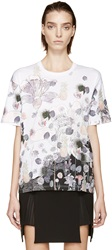 Versus White And Pink Floral Anthony Vaccarello Edition T Shirt
