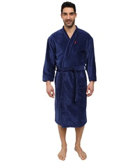 Jockey Terry Velour Solid Robe Navy Men's Robe