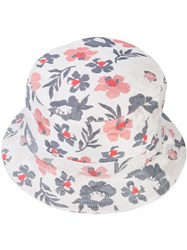 Thom Browne Floral Print Bucket Hat Men Cotton One Size White