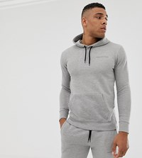 Good For Nothing Muscle Fit Hoodie In Grey With Logo
