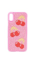 Skinnydip Cherry Beaded Iphone X Xs Case Pink