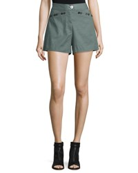 Derek Lam Linen Blend Sailor Shorts Army