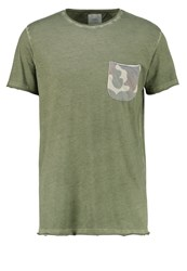 Redefined Rebel Burnley Print Tshirt Olive Green