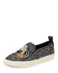 Coach Shooting Star Glitter Sneaker Gun Metal