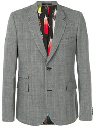 Paul Smith Slim Fit Tailored Jacket Cupro Wool Grey