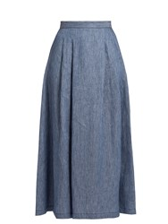 Max Mara Vallet Skirt Blue Stripe