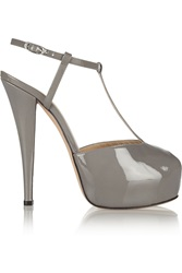 Giuseppe Zanotti Monro Patent Leather Pumps Gray