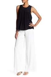 Nicole Miller Tower Satin Crepe Pant White