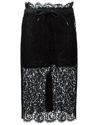 Sacai Drawstring Lace Skirt Black