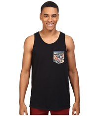Rip Curl Primal Custom Tank Top Black Black Men's Sleeveless