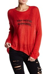 The Laundry Room Beach Bummies Sweater Red