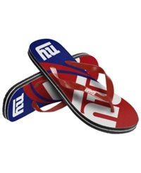 Forever Collectibles New York Giants Thong Sandals Blue