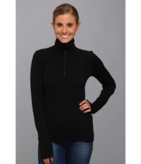 Icebreaker Tech Top Long Sleeve Half Zip Black Women's Long Sleeve Pullover