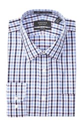 Nordstrom Trim Fit Checkered Long Sleeve Dress Shirt