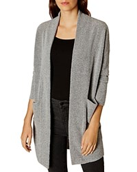 Karen Millen Boucle Knit Cardigan Grey