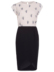 Sugarhill Boutique Panda Print Tulip Skirt Dress Cream Black