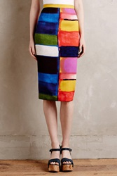 Tracy Reese Colorfield Pencil Skirt Multi