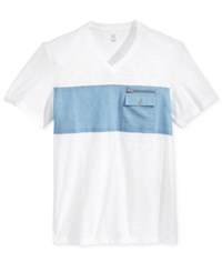 Inc International Concepts Men's Utility Pocket T Shirt Only At Macy's White Pure
