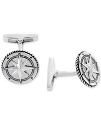 Effy Rope Style Compass Cuff Links Sterling Silver