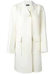 Joseph Single Breasted Coat White