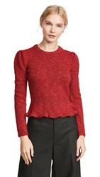 Isa Arfen Fitted Jumper Red