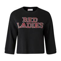 Red Valentino Ladies Sweatshirt Nero Black
