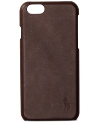 Polo Ralph Lauren Men's Leather Iphone 7 Case Brown