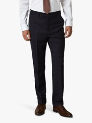 Jaeger Regular Fit Check Suit Trousers Navy Navy