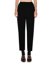 Agnona Cropped Sport Crepe Pants Black