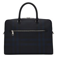 Burberry Black And Navy Check Ainsworth Briefcase