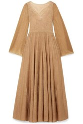 Missoni Pleated Lurex Gown Gold