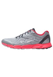Columbia Caldorado Ii Trail Running Shoes Charcoal Bright Red Grey