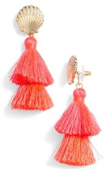 Lilly Pulitzer Shell Yeah Tassel Earrings Cosmic Coral