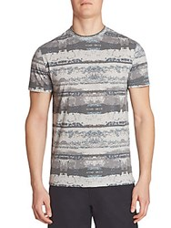 Saks Fifth Avenue Collection Printed Short Sleeve Tee Multi