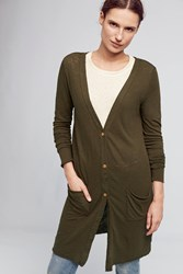 Anthropologie Savera Lightweight Cardigan Green