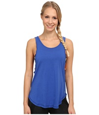Zobha Aubrey Relaxed Fit Studio Singlet Muscari Blue Women's Workout