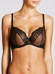 John Lewis Collection By Valentina Luxe Sparkle Plunge Bra Black