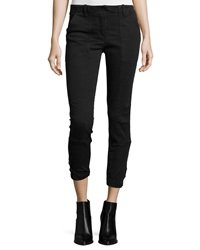 Veronica Beard Field Cargo Cropped Pants Dark Gray