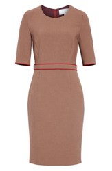 Boss Doliviena Check Sheath Dress